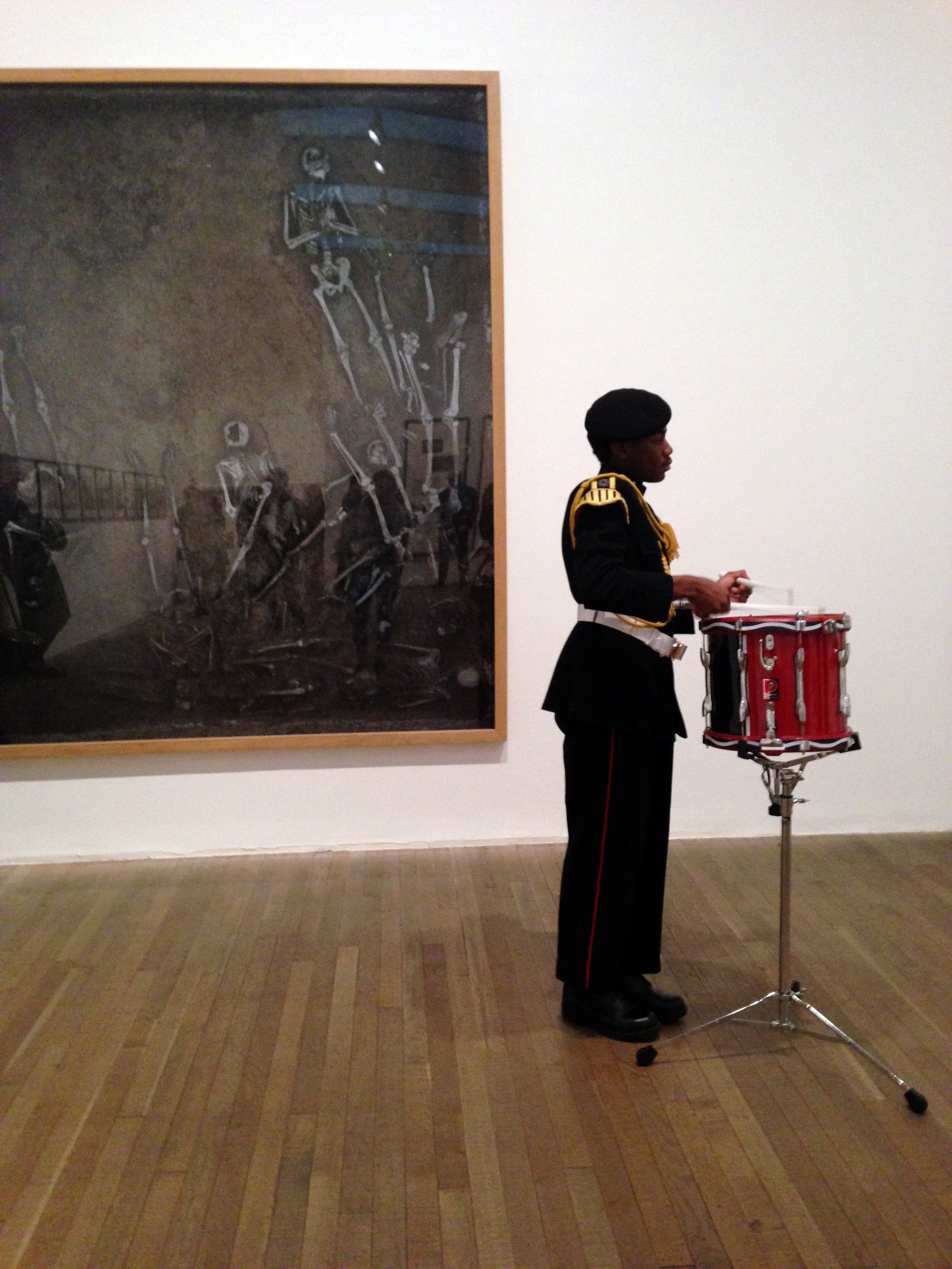 Adam Broomberg and Adam Broomberg and Oliver Chanarin, War Primer II: One Way Song at Tate Modern, 26 January 2015, photograph by Jessie Bond