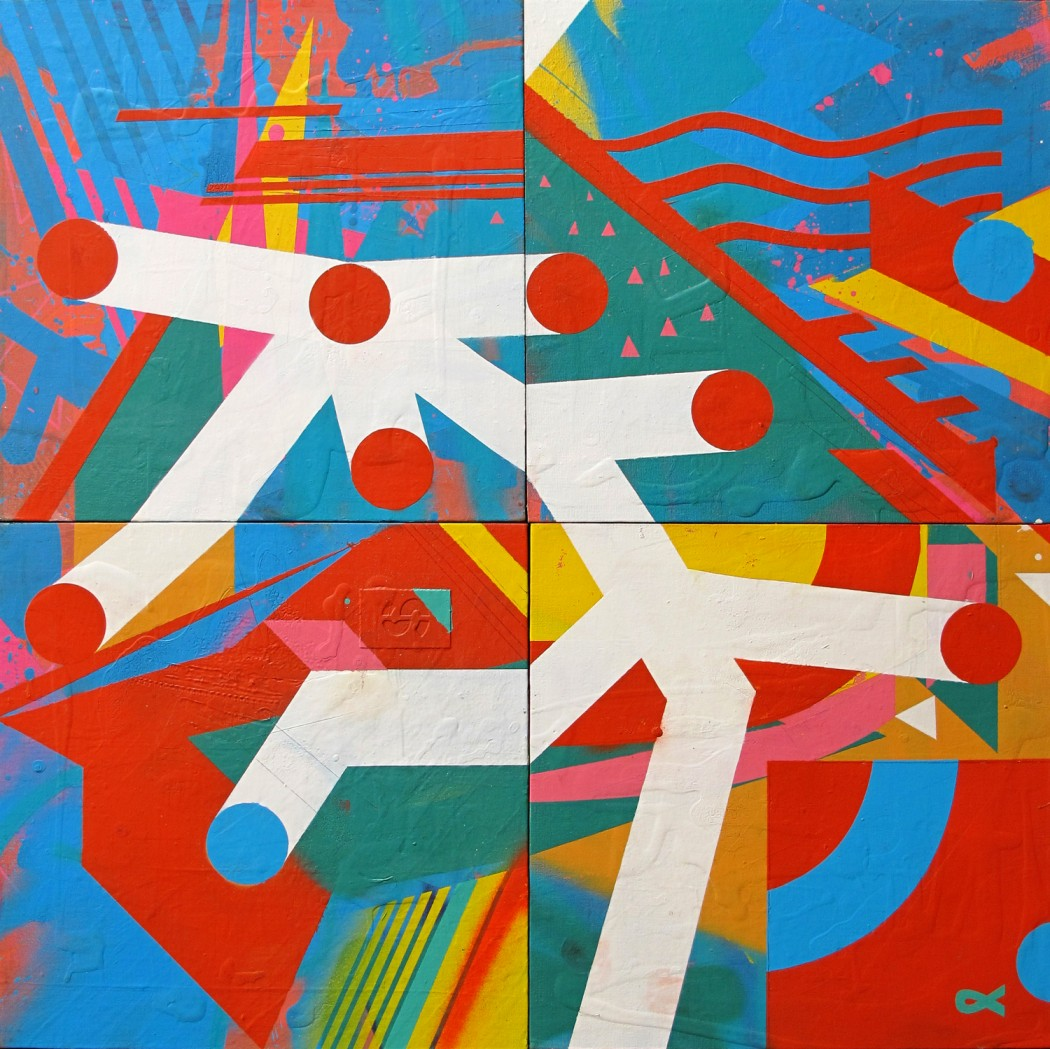 Chu [Julian Pables Manzelli}, Buenos Aires, 2012, acrylic and spraypaint on canvas, 61 x 61 cm