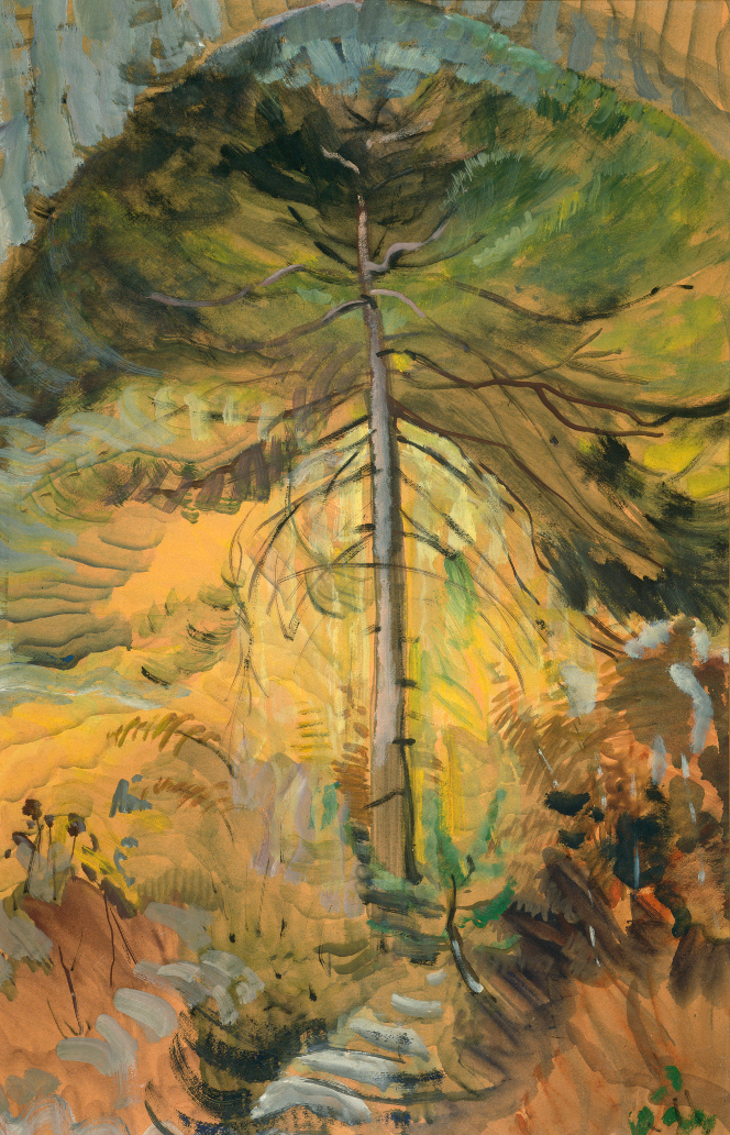 Emily Carr, Happiness, 1939, oil on paper, 84.8 x 54 cm, University of Victoria Art Collection, Gift of Nikolai and Myfanwy Pavelic