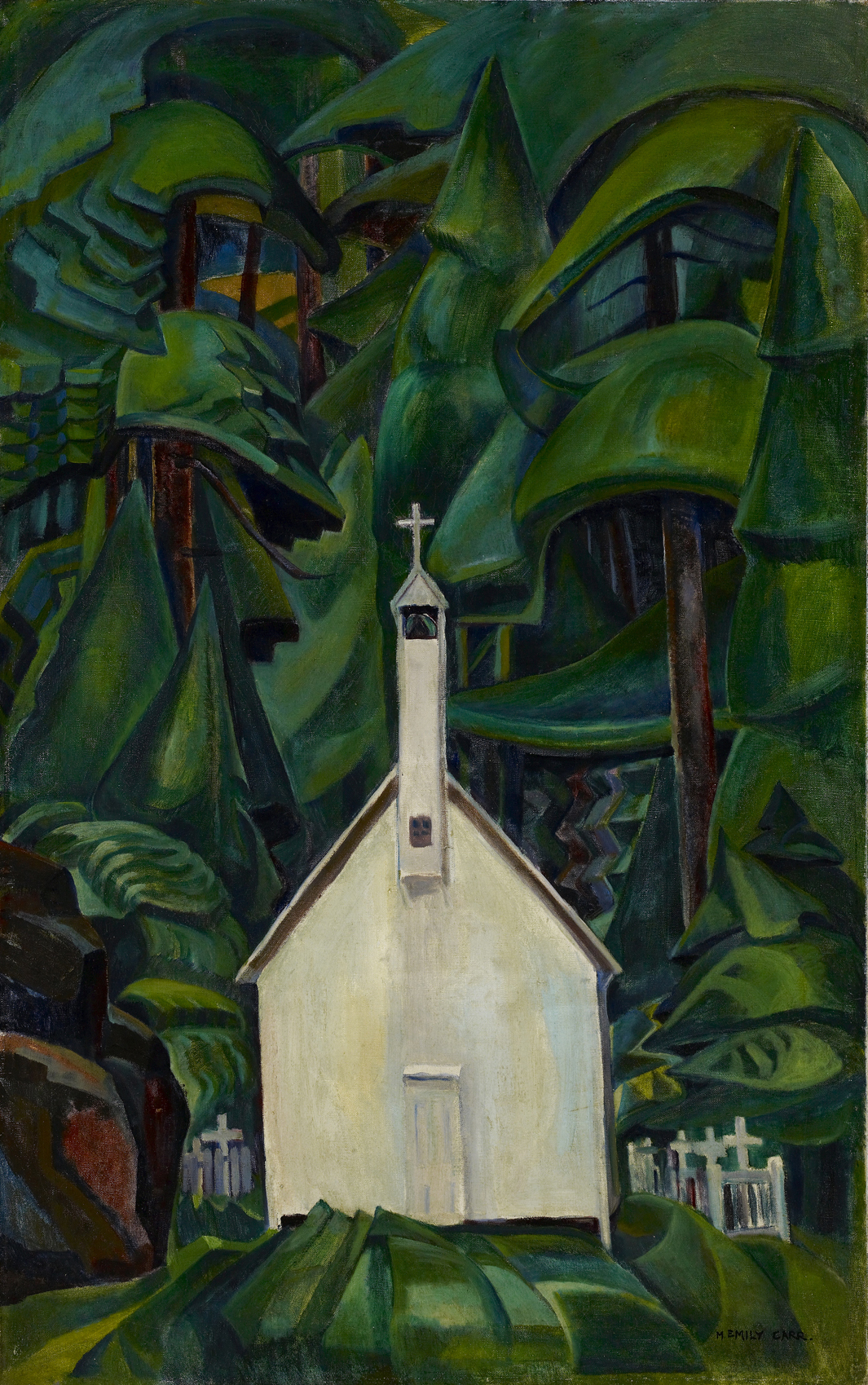 Emily Carr, Indian Church, 1929, oil on canvas, 108.6 x 68.9 cm,  ART GALLERY OF ONTARIO, Bequest of Charles S Band, Toronto.