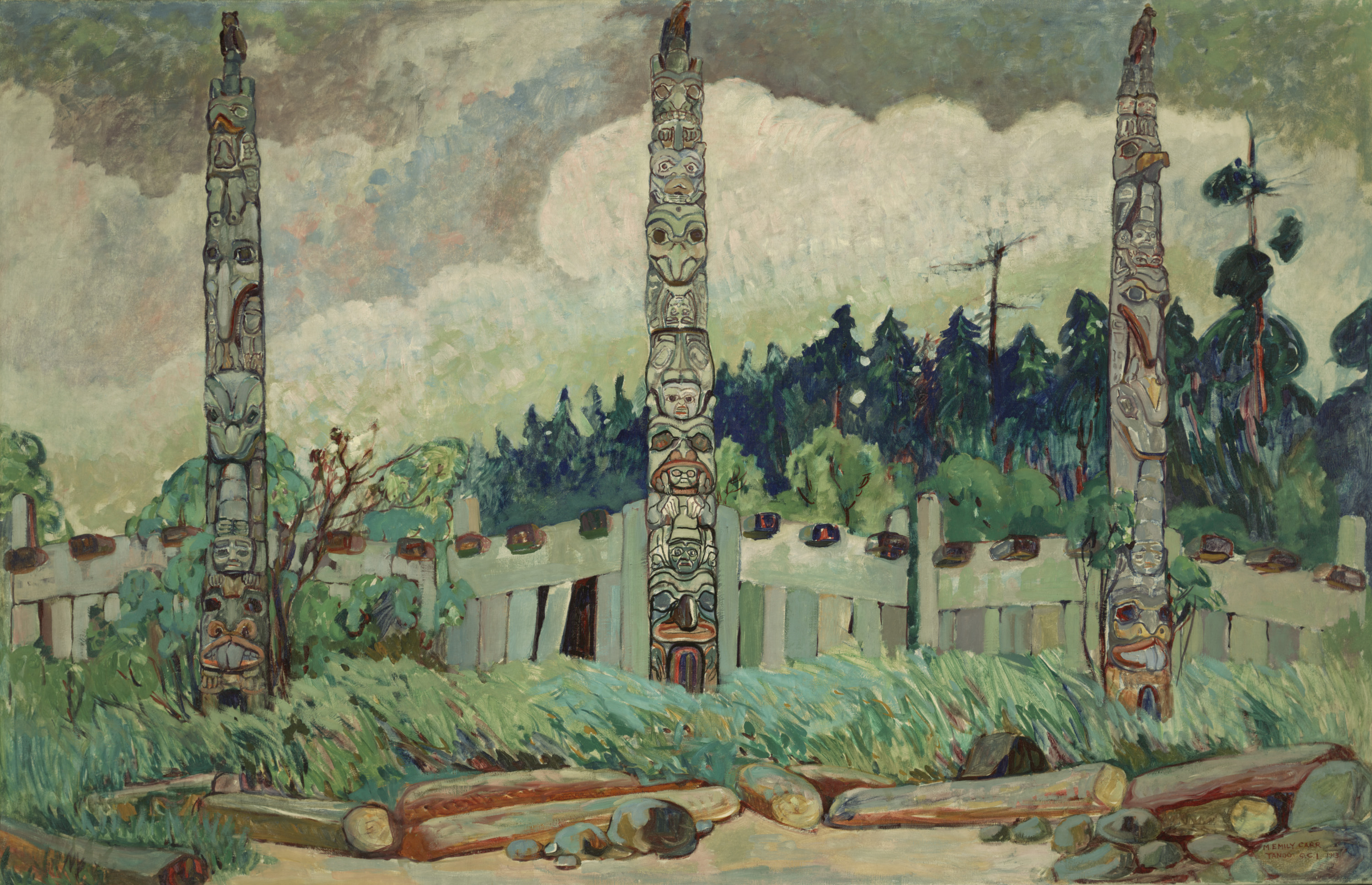 Emily Carr, Tanoo, Queen Charlotte Island, BC, 1913, courtesy of Royal BC Museum, BC Archives, Canada