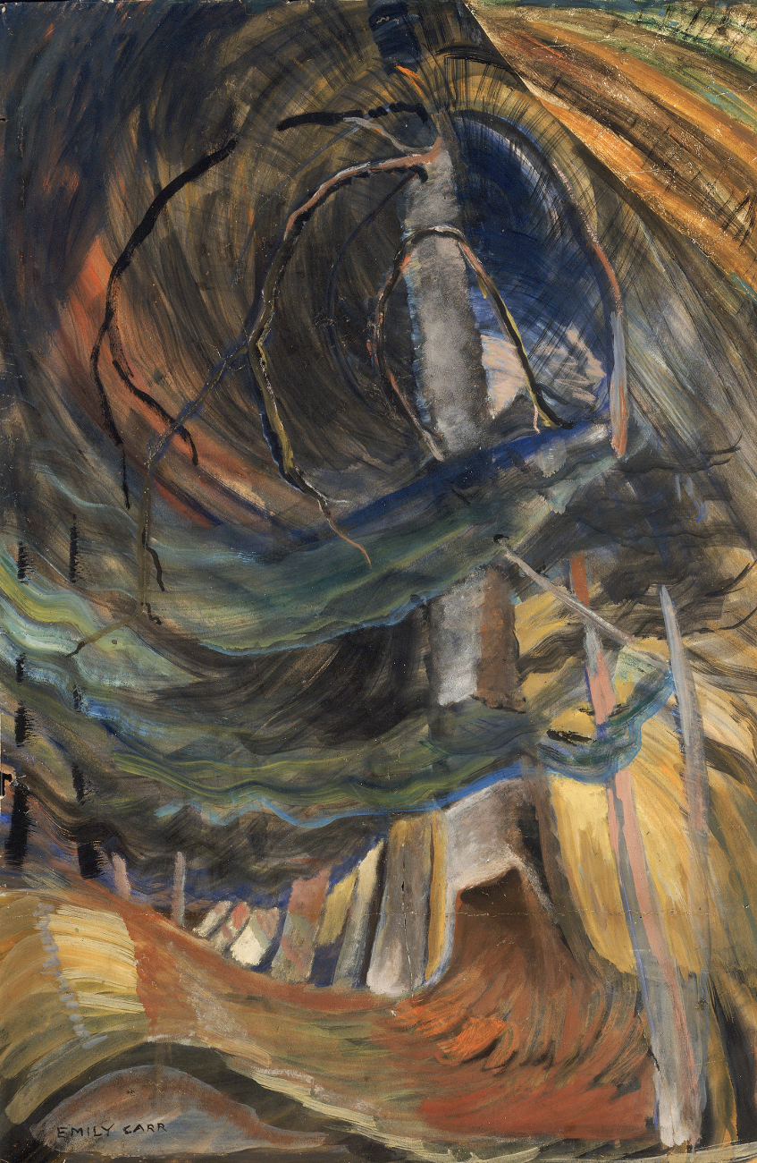 Emily Carr, Tree (spiralling upward), 1932-1933, oil on paper, 87.5 x 58.0 cm,  Collection of the Vancouver Art Gallery, Emily Carr Trust, VAG 42.3.63, Photo: Trevor  Mills, Vancouver Art Gallery