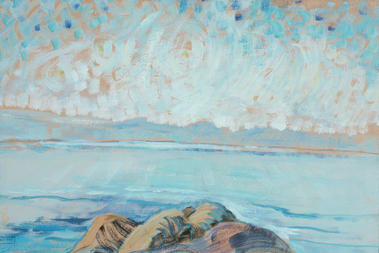 Emily Carr, Untitled (Seascape), 1935, oil on paper mounted on board, 26.5 x 40.5 cm,  The Art Gallery of Greater Victoria
