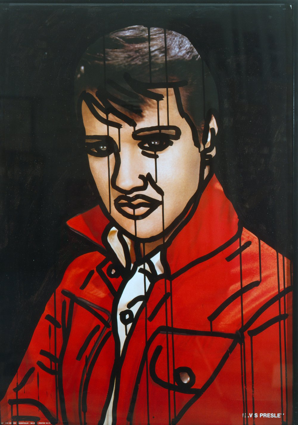 KEITH HARING Elvis Presley 1981 Ink on printed poster 92.7 x 73cm Image courtesy of Keith Haring Foundation