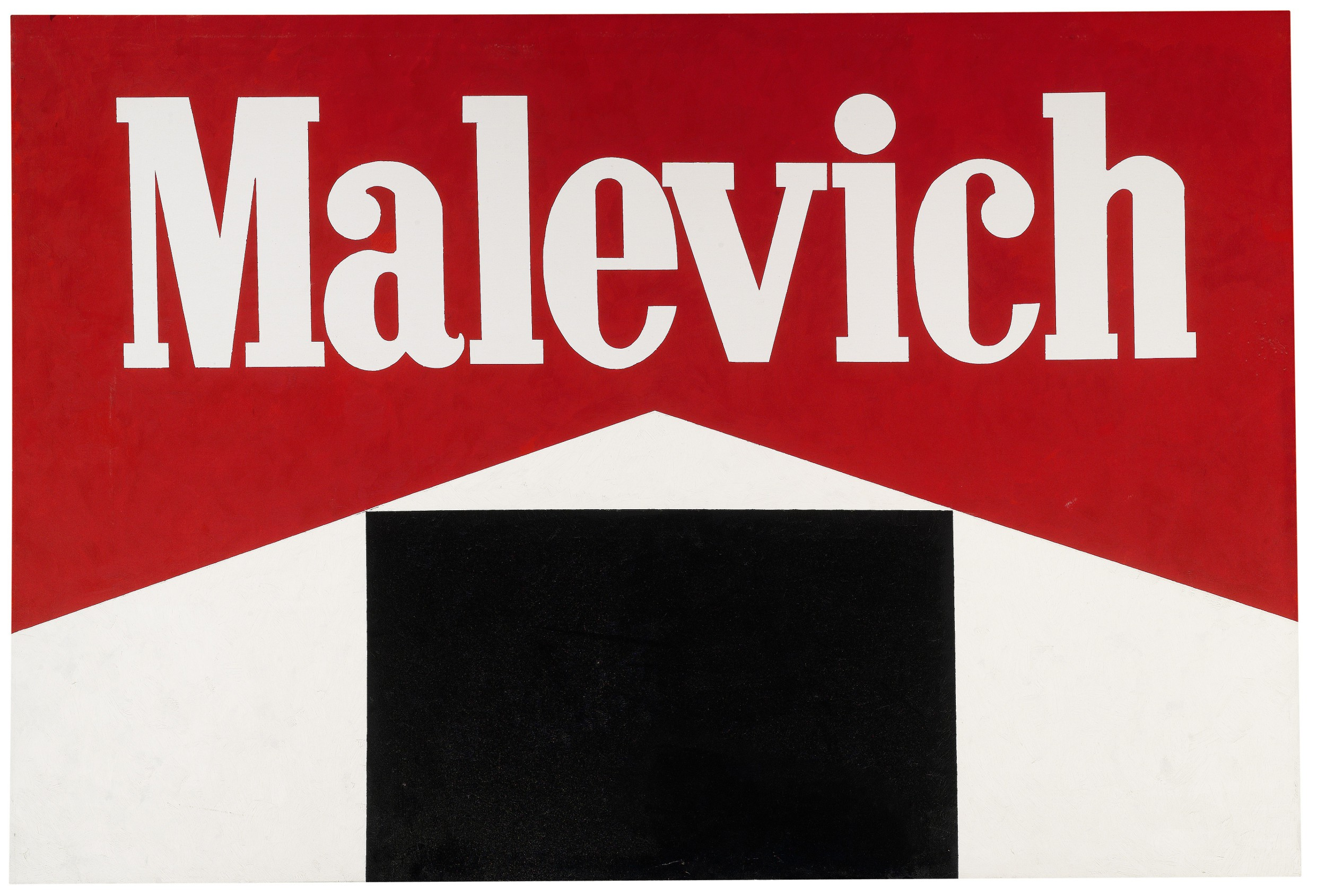 ALEXANDER KOSOLAPOV Malevich - Black Square 1987 Oil on canvas 119.5 x 173 cm Courtesy of The Tsukanov Family Foundation, London