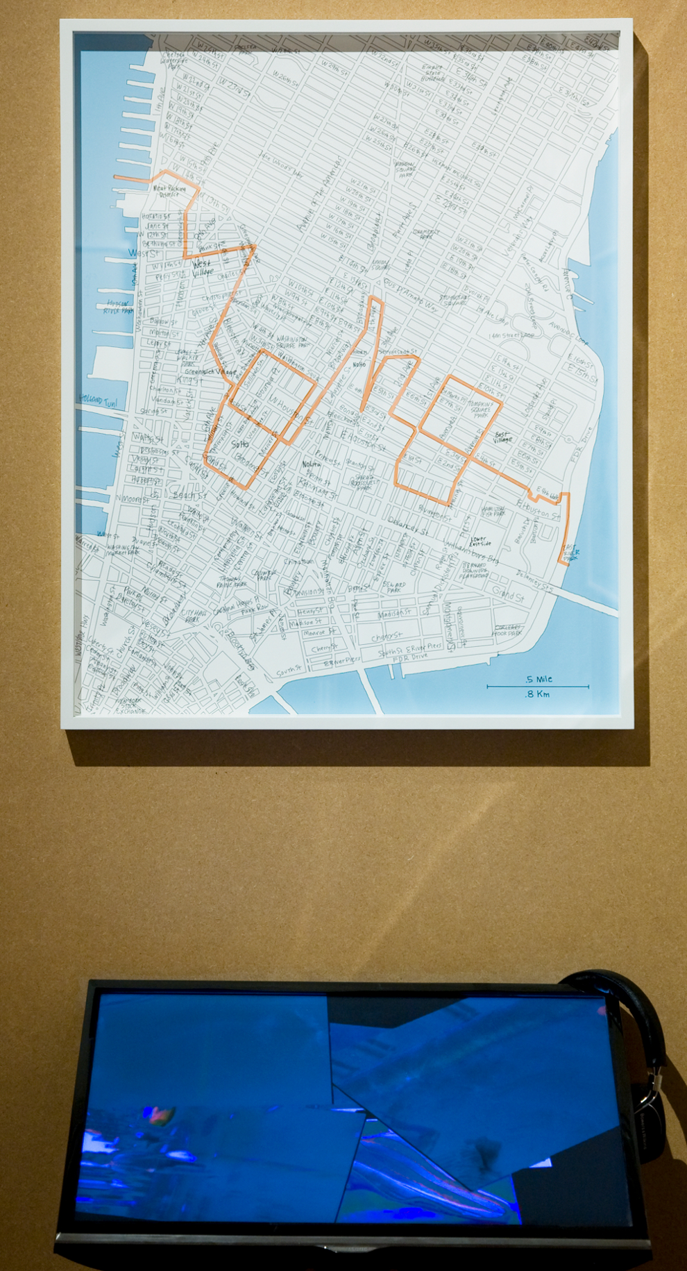 MOMO, Tag Manhattan, 2013, gigles paint on Hahnmeuhle paper and video, 70 x 50 cm/ 2 mins 45 secs