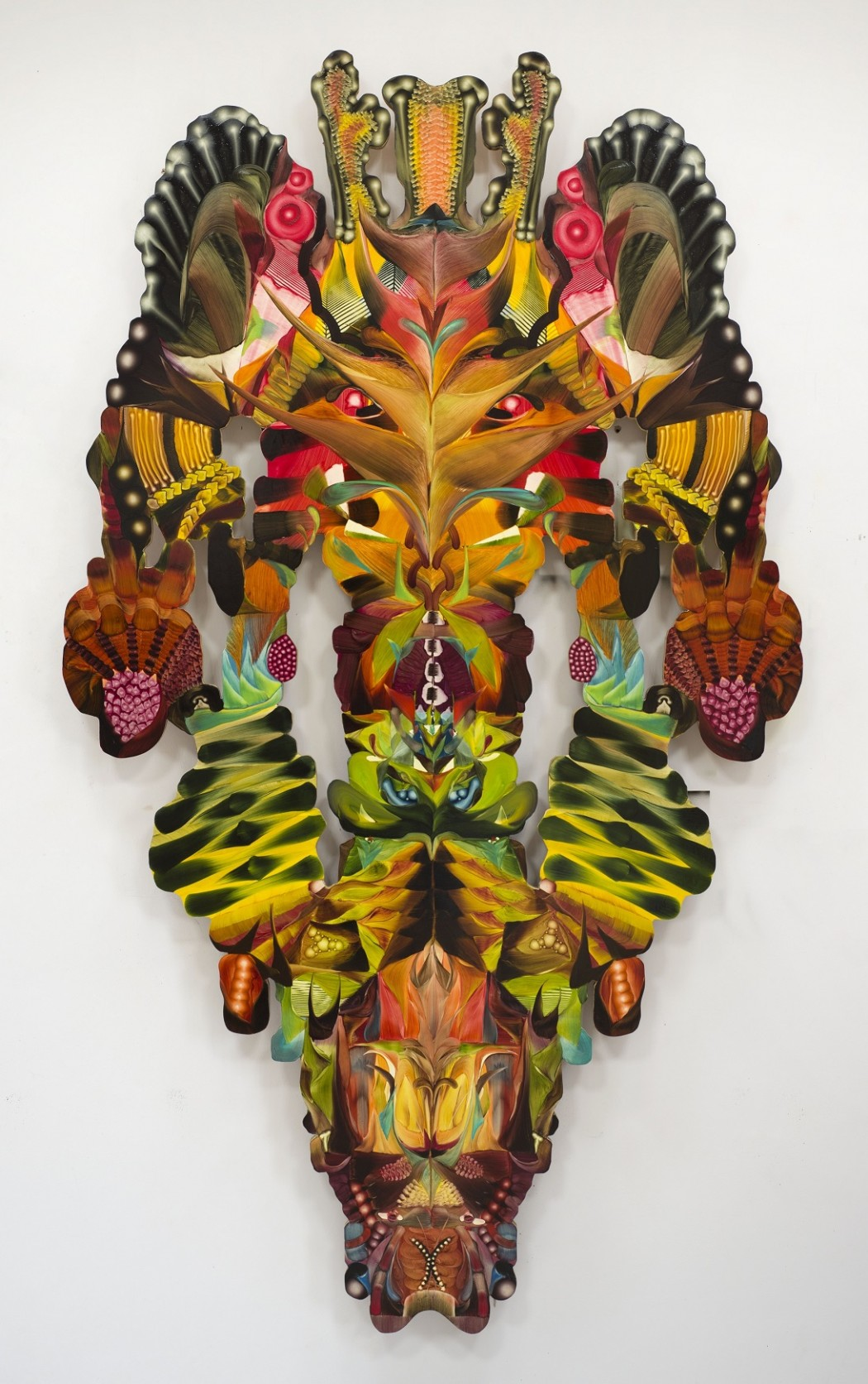 Andy Harper, The Threefold Law 2012. Oil paint on plywood. 208 x 120 x 3 cm, courtesy of Pump House Gallery