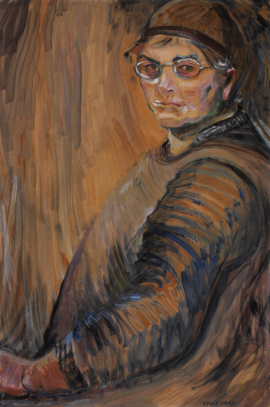 Emily Carr, Self-portrait, 1938-1939, oil on wove paper, mounted on plywood, 85.5 x 57.7 cm, National Gallery of Canada, Ottawa, Gift of Peter Bronfman, 1990, Photo © NGC