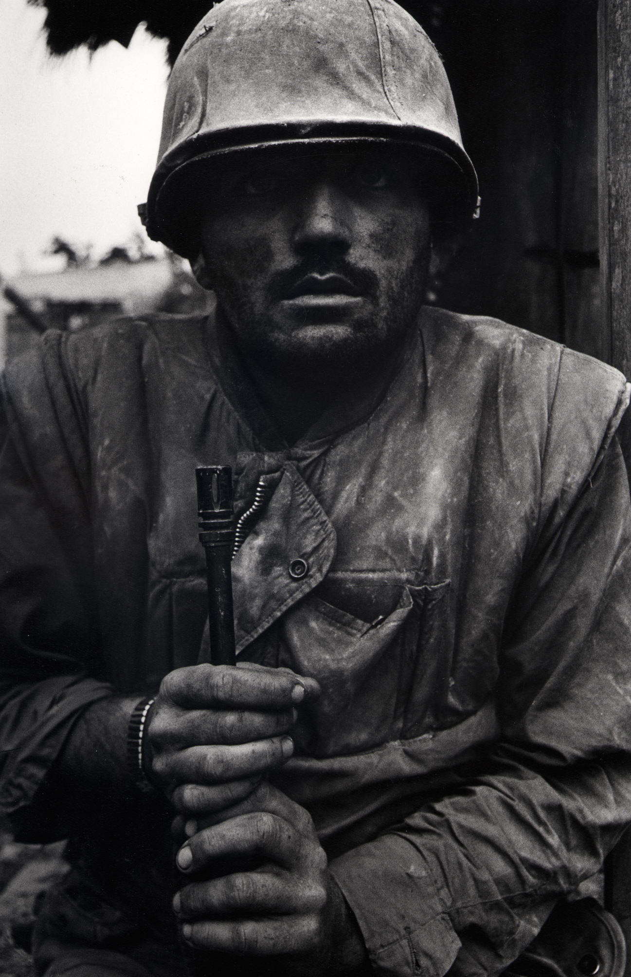 Don McCullin, Shell Shocked US Marine, Vietnam, Hue, printed 2013 © Don McCullin