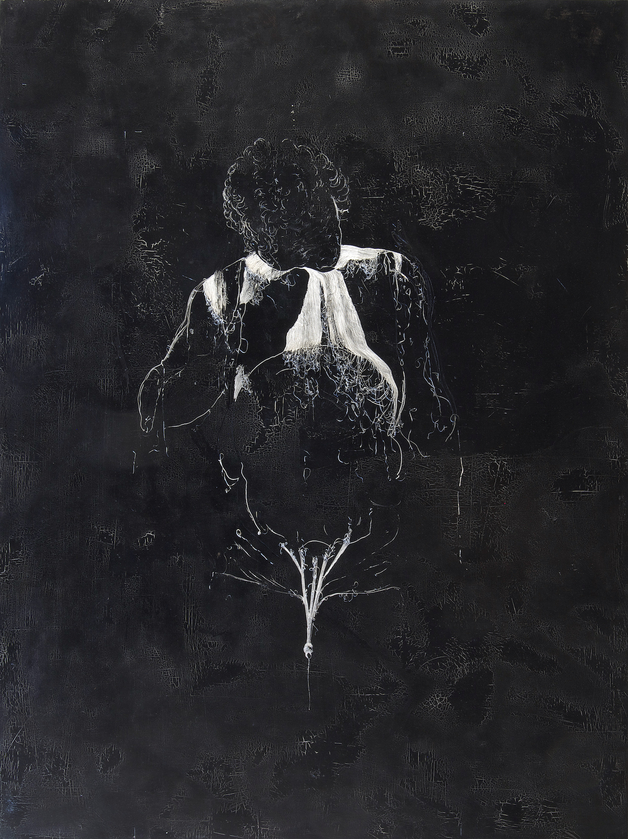 Nicola Samori, filifera, 2015, oil on wood, 200x150cm, courtesy of the artist and Rosenfeld Porcini.